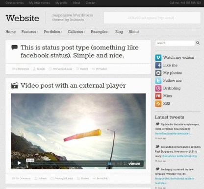 Website- Blog page developed using Visual Composer and Blog layout