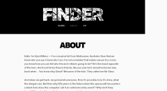 About us page of Finder theme