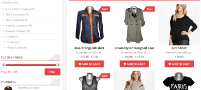 AccessPress store theme with collection of Women's clothing