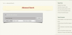 Advance search page template