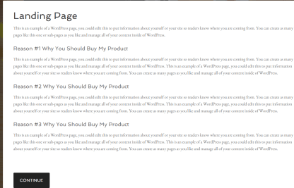 Agency Pro theme showing Landing page