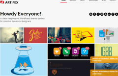 Artifex Pro- Front page featuring Portfolio with amazing mouse hover effects
