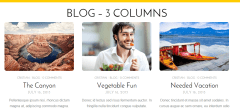 Blog 3 column page of Flat theme