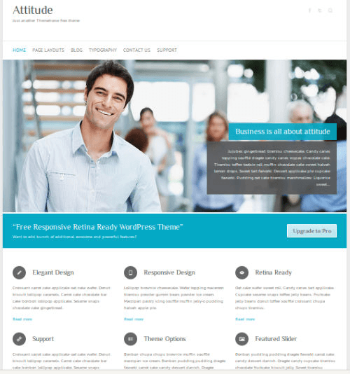Attitude is free responsive retina ready WordPress theme