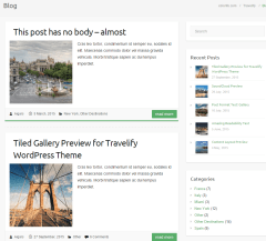 Blog page of Travelify theme