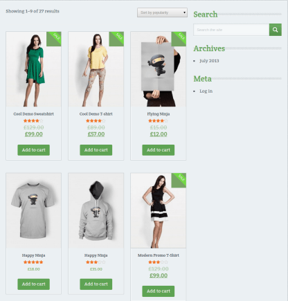 Chronology Shop Page