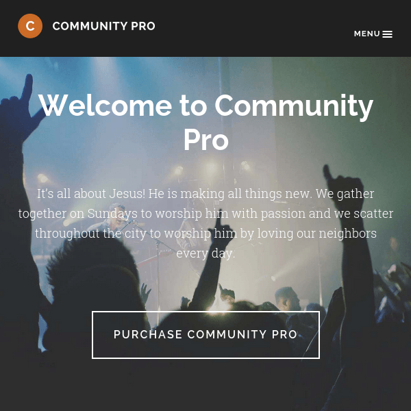 Community Pro WordPress Theme