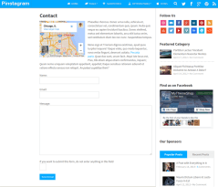 Contact-Page-Pinstagram-WordPress-Theme