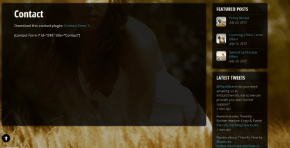 Contact us page of Fullscreen theme