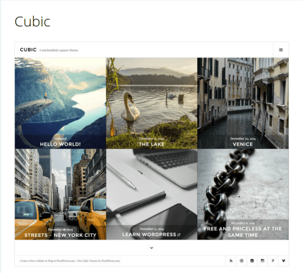 Cubic – PhotoBlogging WordPress Theme
