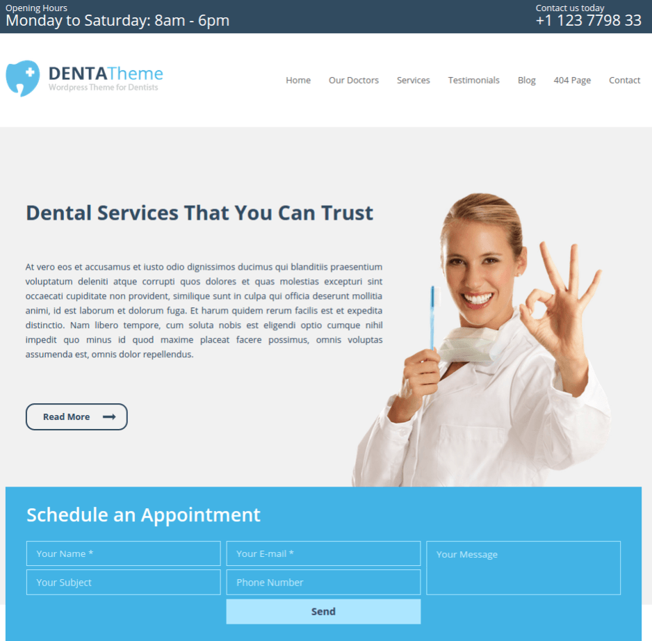 Denta-Wordpress-theme-responsive-layout