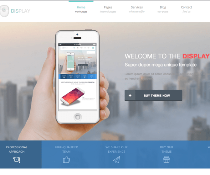 Display - Creative WordPress theme with clean, modern and responsive design