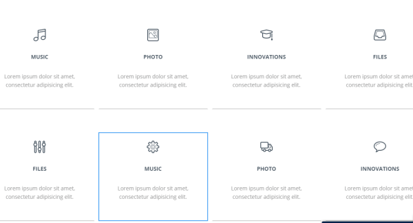 Display theme's services