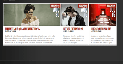 Education page of TheStyle theme