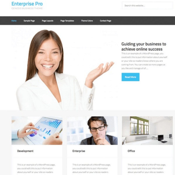 Enterprise Pro – Genesis Business theme