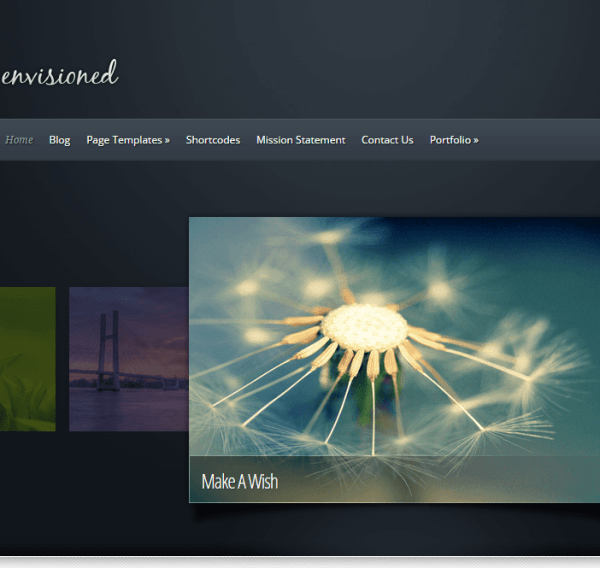 Envisioned -A portfolio based WordPress theme