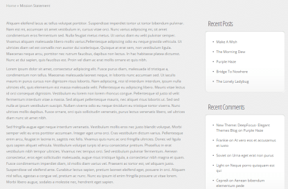 Envisioned- Page template with sidebar