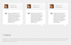 Envisioned- Testimonials built with shortcodes supported by this theme