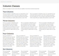 Executive Pro- Column classes page template of this theme