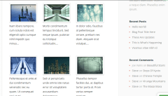 Explorable theme's Portfolio with sidebar