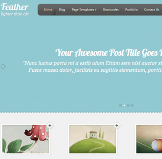 Feather- An elegant portfolio theme