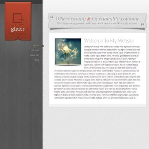 Glider- A Personal blogging WordPress theme