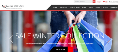 Home page of AccessPress store theme