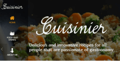 Home page of Cuisinier theme