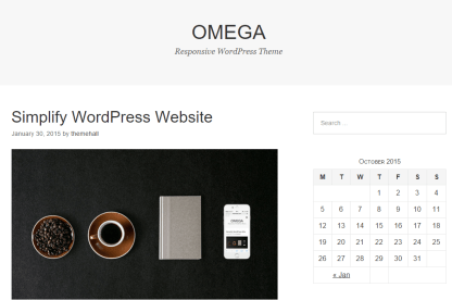 Home page of Omega theme