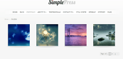 Home page of SimplePress theme