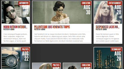 Home page of TheStyle theme