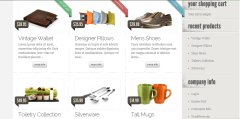 Home page of eStore theme