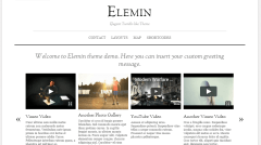 Homepage of Elemin theme