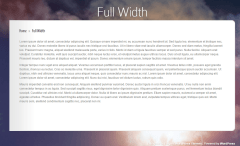 InStyle- Fullwidth page template is provided