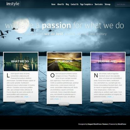 InStyle WordPress theme for corporate use