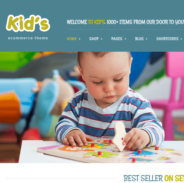 Kidshop – A creative minimal WordPress e-commerce theme