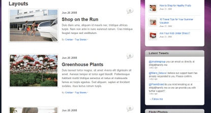 Layout of iTheme2 with right sidebar