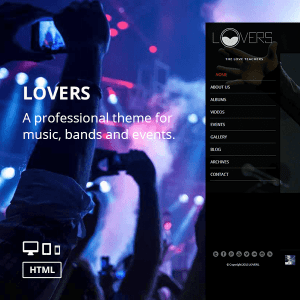 Lovers - Music WordPress Theme