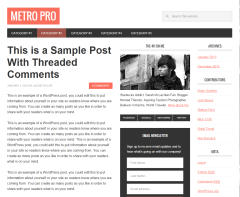 Metro Pro- Front page built using content-sidebar-sidebar layout