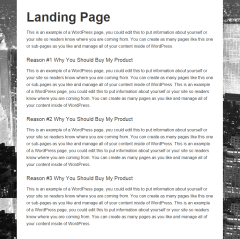 Metro Pro- Landing page template of this theme