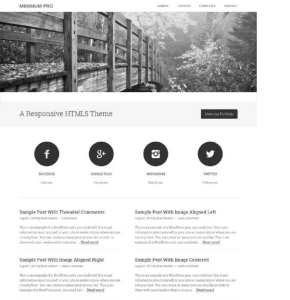 Minimum Pro Theme - Responsive Multipurpose WordPress theme