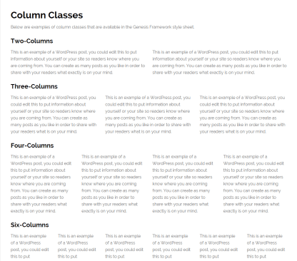News Pro- Column classes page template is provided by this theme