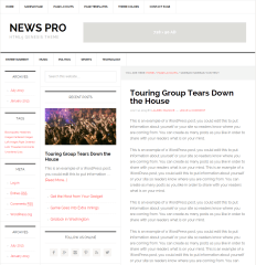 News Pro- Page layout with sidebar-sidebar-content pattern