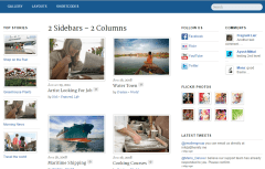 Newsy- Page layout with 2 sidebars and 2 columns in content