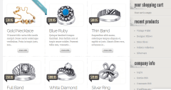 Page displaying affordable jewelry