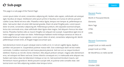 Page format of The WP
