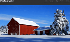 Photography- Front page with featured image slider