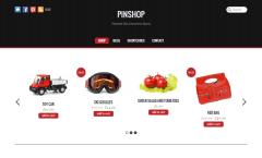 Pinshop- Shop page with elegant product slider to feature products