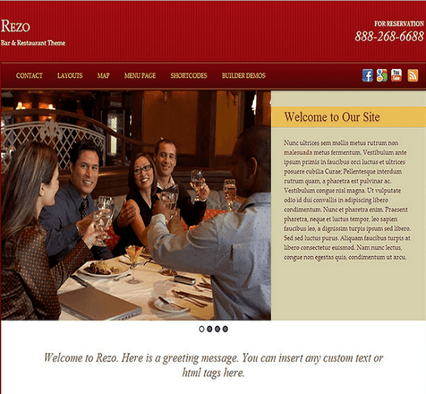 Rezo- A Bar, Cafe and Restaurant theme