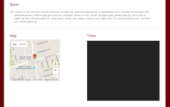 Rezo- Other shortcodes are horizontal bars, google map, video embedding